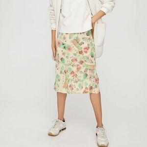 NWT Aritiza Wilfred Free 'Kyra' Midi Slip Skirt 8